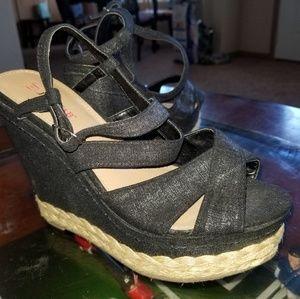 Just Fab Wedges 5 inch heel
